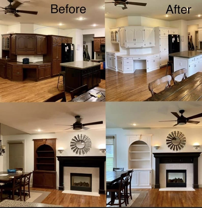 Interior Residential Wall and Cabinet Painting